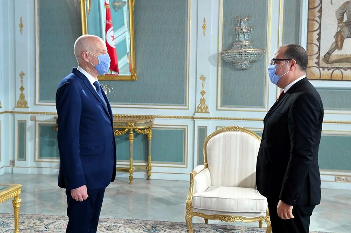 قيس  سعيد  يستقبل  رئيس  الحكومة