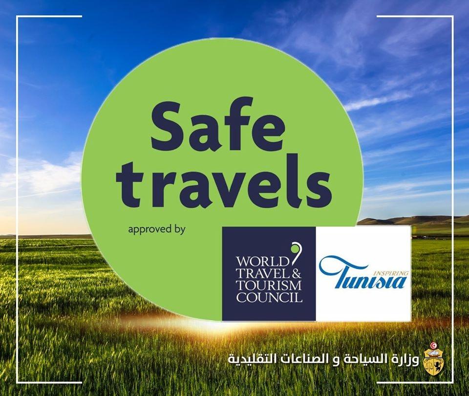 تونس تتحصل على علامة السفر الآمن  كبلد جاهز على المستوى الصحي لاستقبال الوافدين