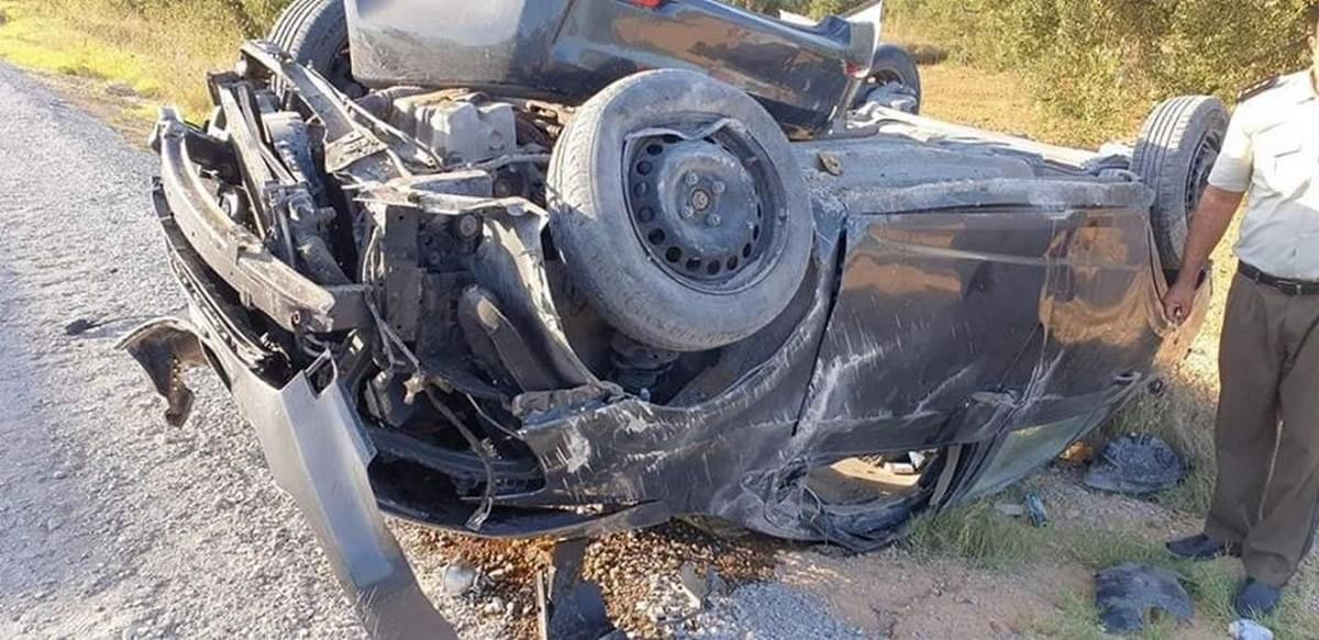 مدنين : حادث مرور يودي بحياة الاب وزوجته وابناه