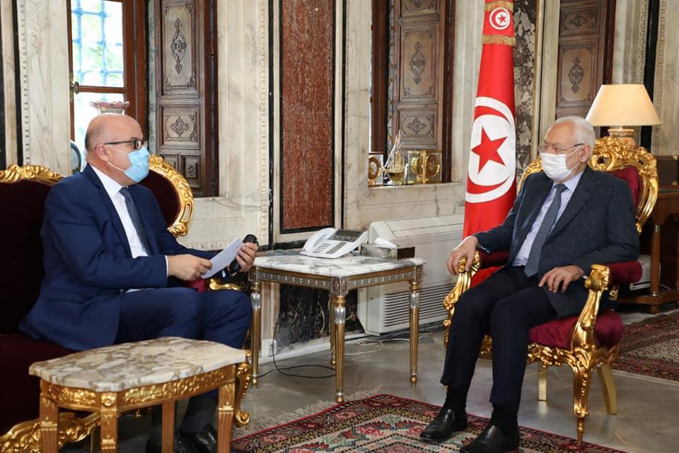 راشد الغنوشي في لقاء مع وزير الصحة