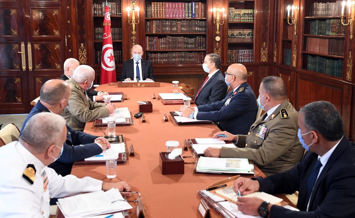 قيس سعيد يشرف على اجتماع المجلس الأعلى للجيوش