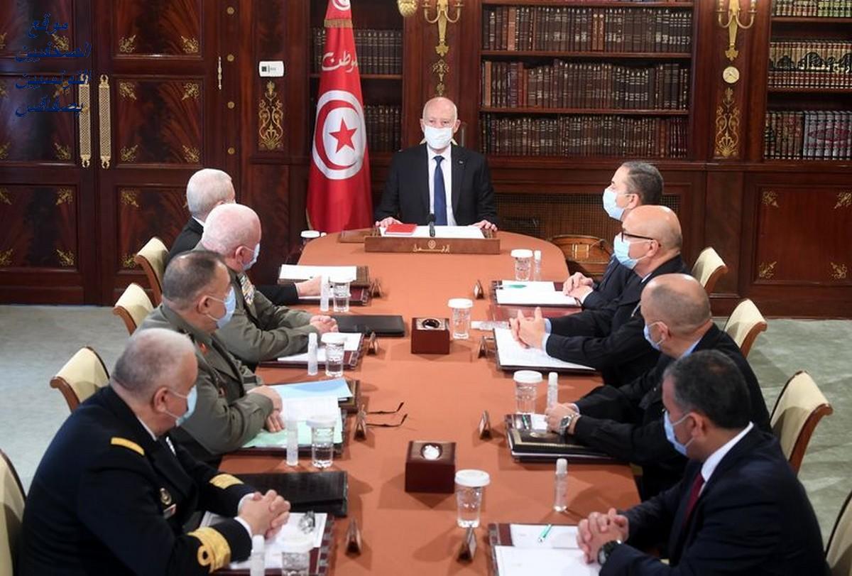 قيس  سعيّد يراس  اجتماع المجلس  الاعلى للجيوش
