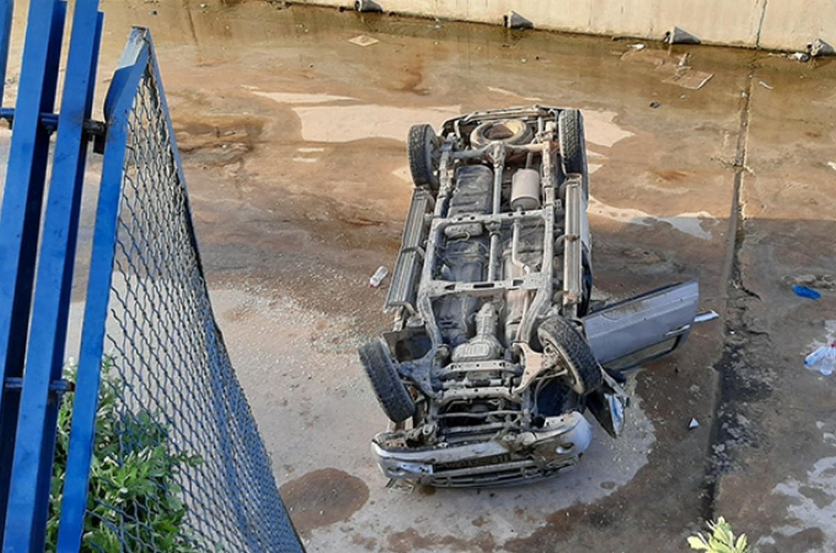 صفاقس : انزلاق شاحنة خفيفة وسقوطها في  القنال بساقية الدّائر