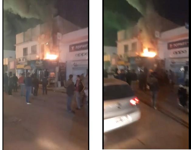 حريق بساقية الدّائر في محل لبيع دواجن