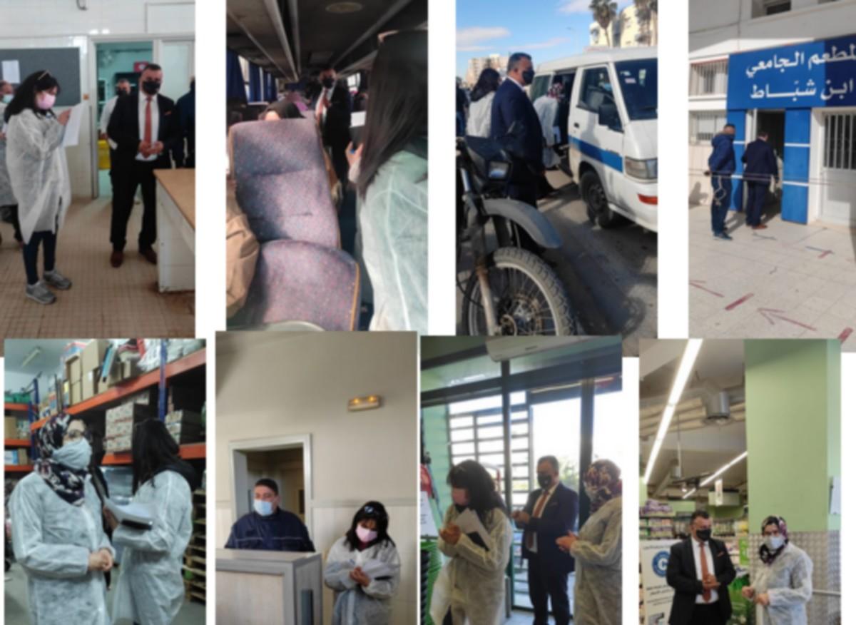 حملة امنية لمراقبة احترام البروتوكول الصحي بمعتمدية صفاقس الغربية