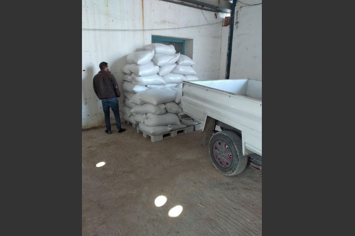 جبنيانة : حجز اربعة اطنان  من  الشعير المدعّم