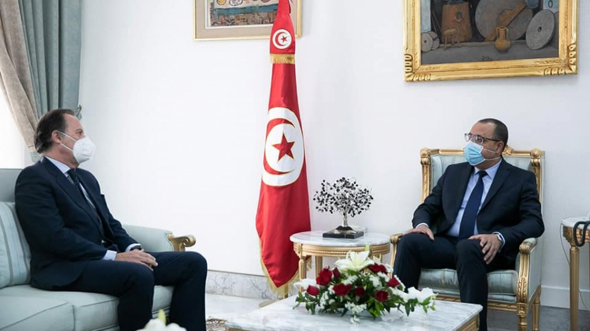 السفير الإسباني يؤكد عزم بلاده في لقائه بالمشيشي دعم استثمارها في تونس