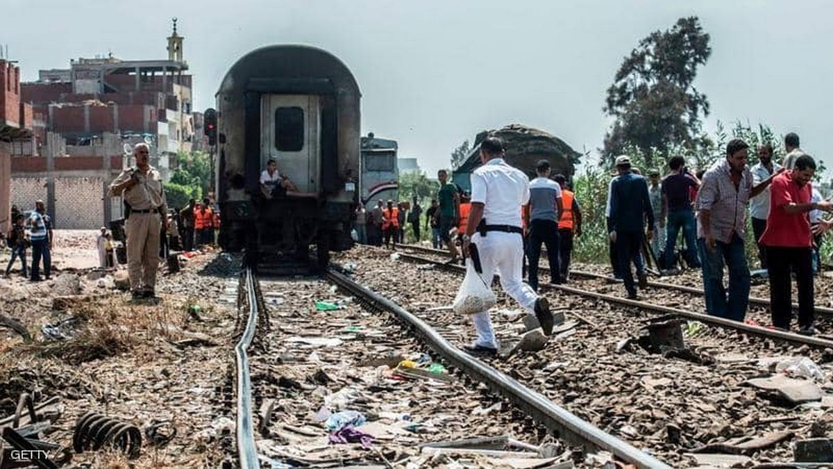 خروج قطار عن مساره في مصر وجرحي بين الركاب