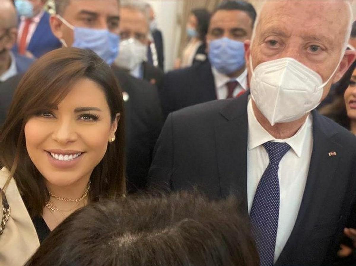 اماني السويسي سعيدة بلقاء  رئيس  الدولة في مصر