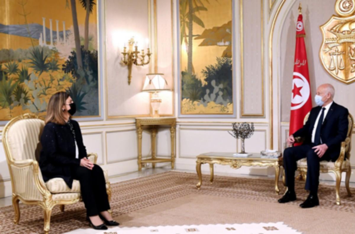 رئيس الجمهورية يستقبل وزيرة الخارجية و التعاون الدولي بحكومة الوحدة الوطنية الليبية