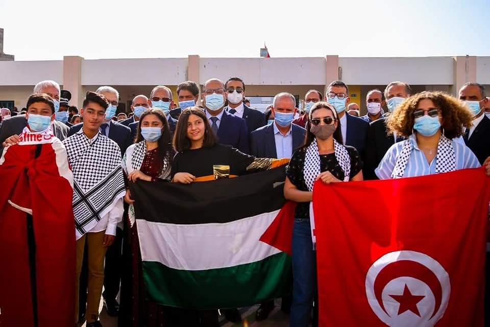حمام الشط: المشيشي يشرف على رفع علم فلسطين