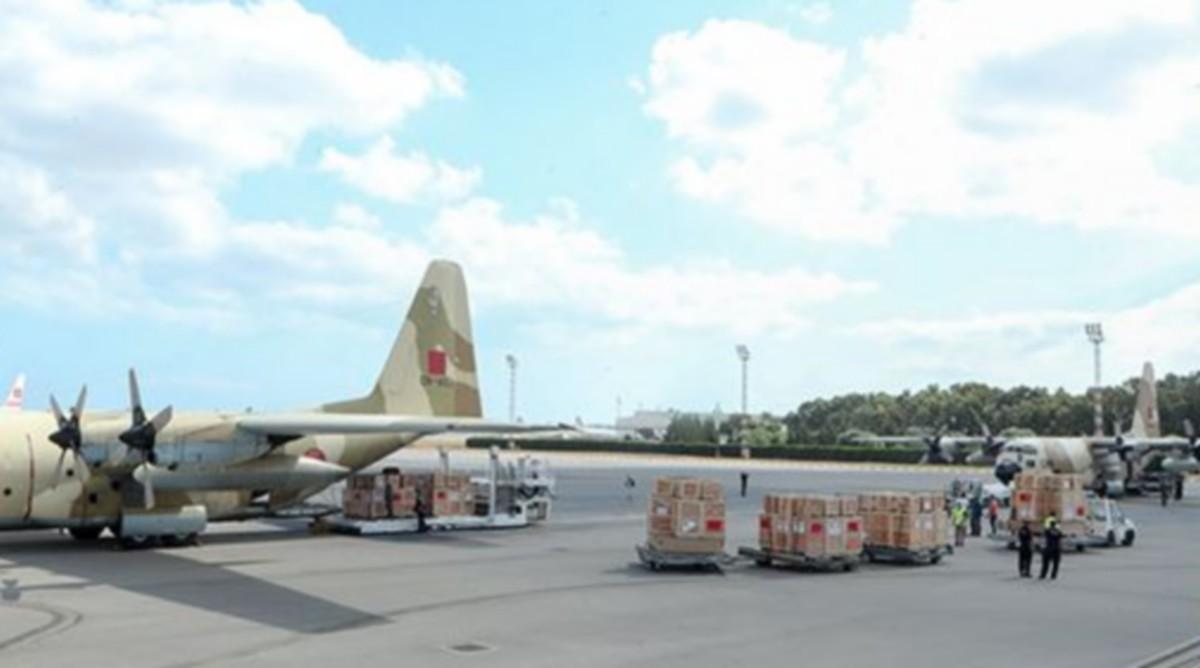 4 طائرات عسكرية مغربية محمّلة بتجهيزات طبيّة تصل مطار قرطاج