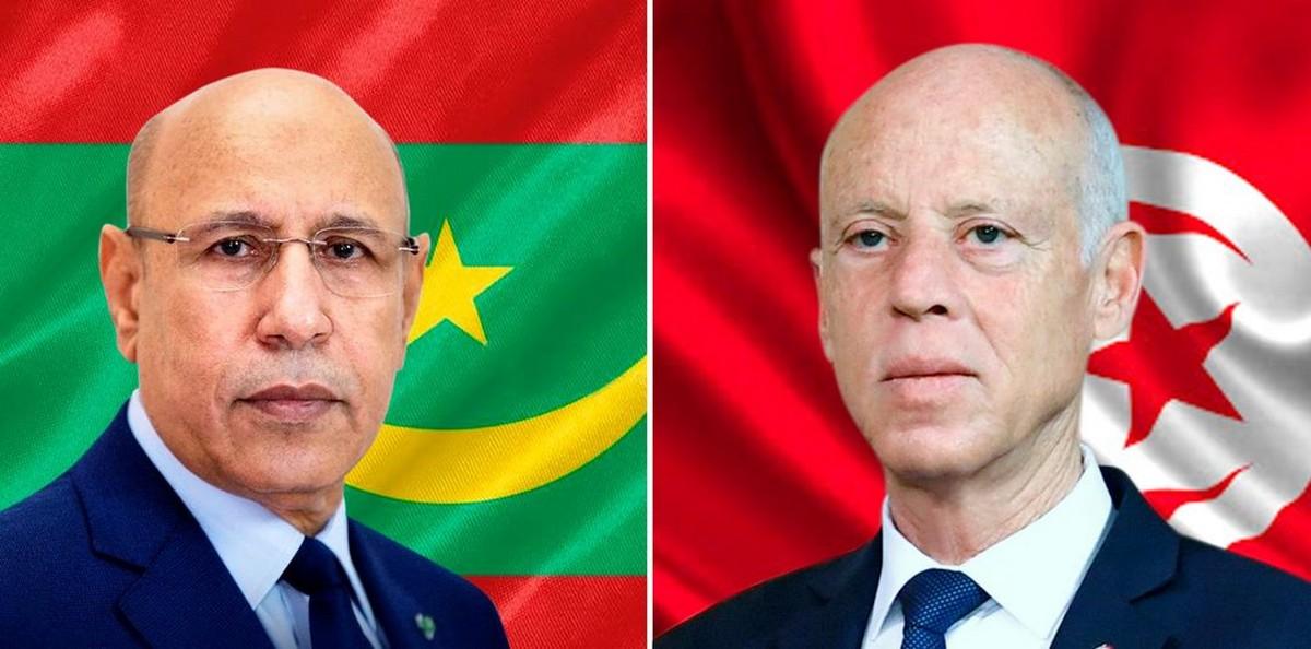 بعد مكالمة هاتفية  لقيس سعيّد :موريطانيا تلتحق  بركب  الدول التي قدمت  اعانات لتونس