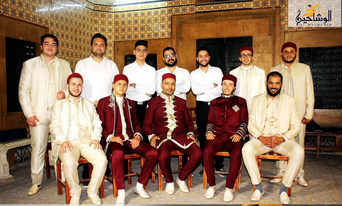 مجموعة  الوشاحين تحتفل بالمولد النبوي الشريف بمدينة عقارب