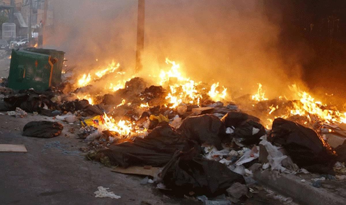 صفاقس خطير :  بعد  تجميع  النفايات المنزلية  المرور  إلى مرحلة الحرق