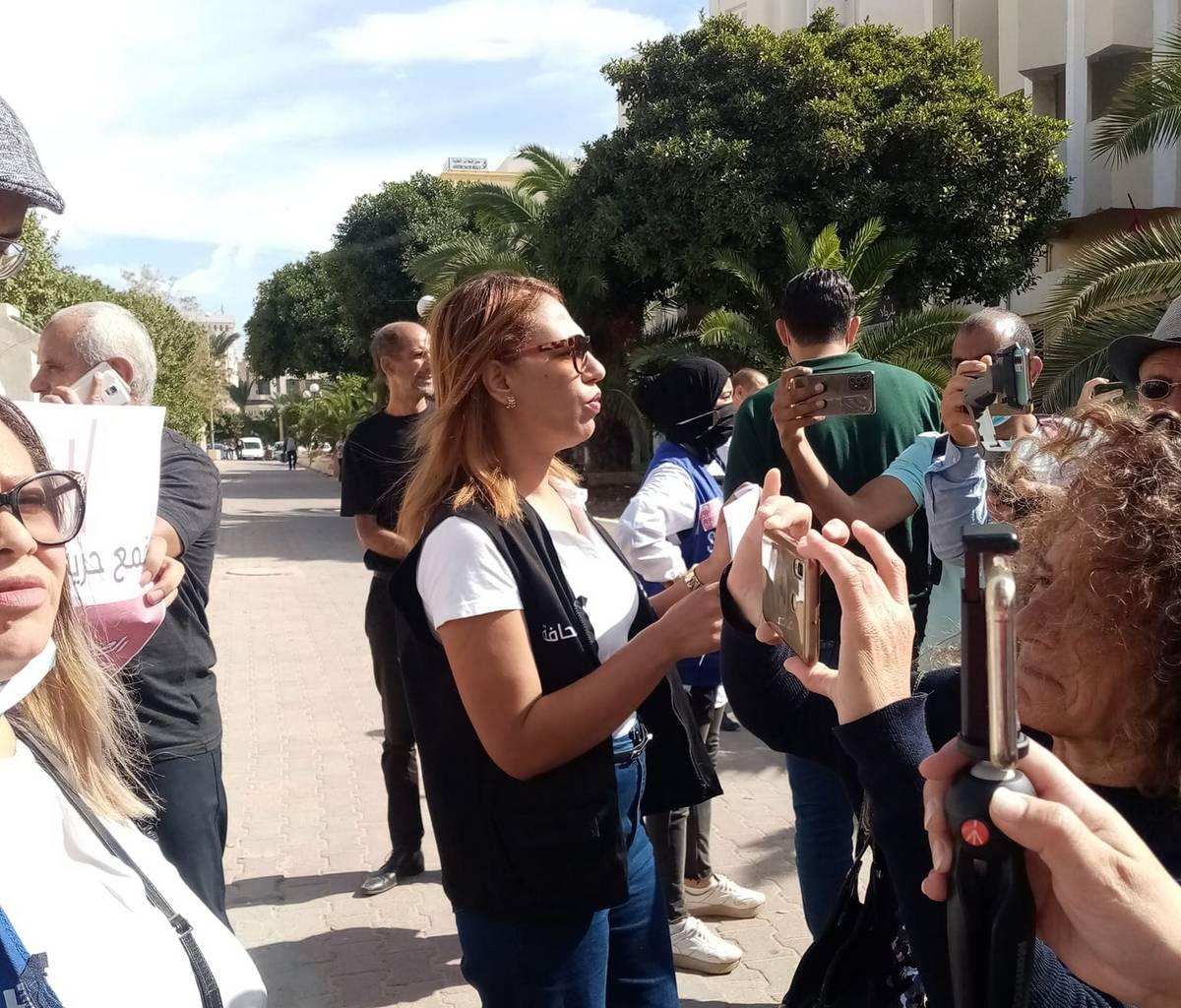 صفاقس : وقفة  احتجاجيّة للصحفيات والصحفين اثر موجة العنف  الاخيرة